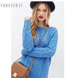 Blue Forever 21 Knit Sweater (S)